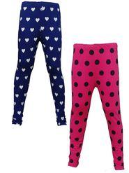 Pack of 2 Little Star Girl's Multicolor Leggings - PRO_3205