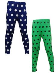 Pack of 2 Little Star Girl's Multicolor Leggings - RG_3216
