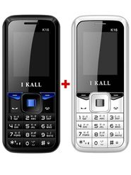Combo of I KALL K11 Dual SIM Mobile(Black) + I KALL K16 Dual SIM Mobile Phone (White)