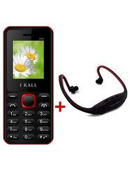 Combo of I Kall K66 1.8 Inch Dual Sim Mobile (Black) + Neckband for Music