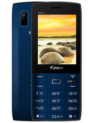 Ziox Trendy Dual SIM Feature Phone (Black-Blue)