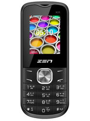 ZEN X23 Dual SIM Feature Phone (Black-Red)