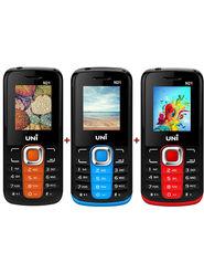 Combo of Uni N21 Feature Mobile (Orange Black) + Uni N2 (Red Black) + Uni N21 (Blue Black) Feature Phone