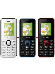 Combo of  I Kall K66 Dual Sim Mobile (Blue) + I Kall K66 (Black) + I Kall K66 (White) Feature Phone