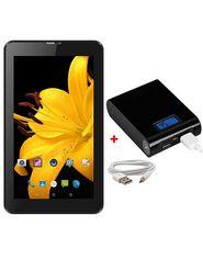 Combo of  I Kall N2 Kitkat 3G Calling Tablet - Black + 12000 mAh Powerbank - Black