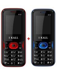 Combo of  I Kall K12 Dual SIM Mobile- Black & Blue + I Kall K12 Dual SIM Mobile - Red