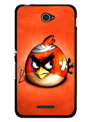 Snooky Designer Print Hard Back Case Cover For Sony Xperia E4 - Orange