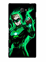 Snooky Designer Print Hard Back Case Cover For Sony Xperia M2 - Green