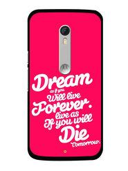 Snooky Designer Print Hard Back Case Cover For Motorola Moto X Play - Rose Pink