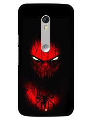 Snooky Designer Print Hard Back Case Cover For Motorola Moto X Play - Red