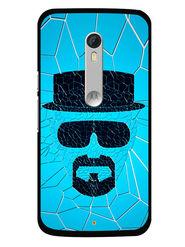Snooky Designer Print Hard Back Case Cover For Motorola Moto X Play - Blue