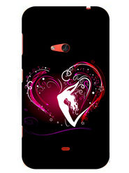 Snooky Designer Print Hard Back Case Cover For Nokia Lumia 625 - Black