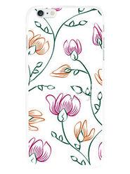 Snooky Designer Print Hard Back Case Cover For Apple iPhone 6S - White
