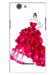 Snooky Designer Print Hard Back Case Cover For Xolo A500s - Pink