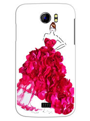 Snooky Designer Print Hard Back Case Cover For Micromax Canvas 2 A110 - Pink
