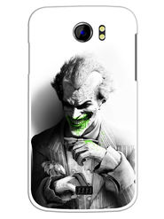 Snooky Designer Print Hard Back Case Cover For Micromax Canvas 2 A110 - Grey