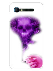 Snooky Designer Print Hard Back Case Cover For Intex Aqua Y2 pro - Purple
