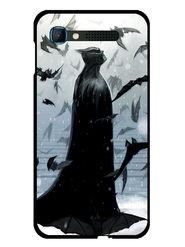 Snooky Designer Print Hard Back Case Cover For Intex Aqua Y2 pro - Grey