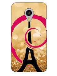 Snooky Digital Print Hard Back Case Cover For Meizu MX4 Pro - Golden