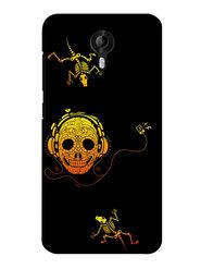 Snooky Digital Print Hard Back Case Cover For Micromax Canvas Nitro 3 E455 - Black