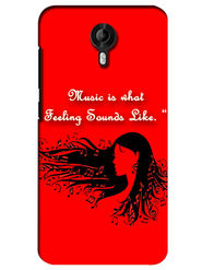 Snooky Digital Print Hard Back Case Cover For Micromax Canvas Nitro 3 E455 - Red