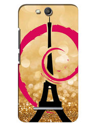 Snooky Digital Print Hard Back Case Cover For Micromax Canvas Juice 3 Q392 - Golden