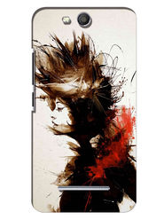 Snooky Digital Print Hard Back Case Cover For Micromax Canvas Juice 3 Q392 - White