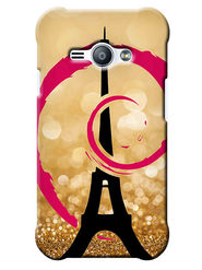 Snooky Digital Print Hard Back Case Cover For Samsung Galaxy J1 Ace - Golden