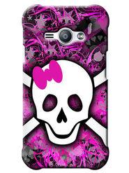 Snooky Digital Print Hard Back Case Cover For Samsung Galaxy J1 Ace - Purple