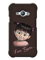 Snooky Digital Print Hard Back Case Cover For Samsung Galaxy J1 Ace - Brown