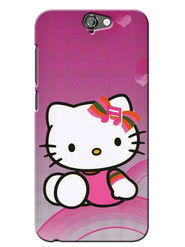 Snooky Digital Print Hard Back Case Cover For HTC One A9 - Pink