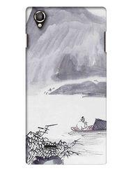 Snooky Digital Print Hard Back Case Cover For Lava Iris 800 - Grey