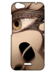 Snooky Digital Print Hard Back Case Cover For Micromax Bolt Q338 - Brown