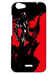 Snooky Digital Print Hard Back Case Cover For Micromax Bolt Q338 - Black