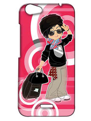 Snooky Digital Print Hard Back Case Cover For Micromax Bolt Q338 - Rose Pink