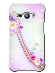 Snooky Digital Print Hard Back Case Cover For Samsung Galaxy J1 Ace - White