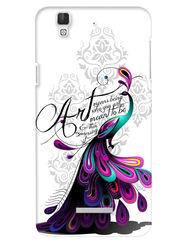 Snooky Digital Print Hard Back Case Cover For Coolpad Dazen F2 - White
