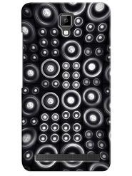Snooky Digital Print Hard Back Case Cover For Micromax Bolt Q331 - Black