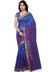 Viva N Diva Plain Banarasi Silk Blue Saree -vs10