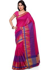Viva N Diva Plain Banarasi Silk Red Saree -vs14