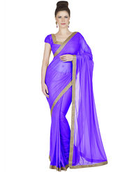 Designersareez Lycra Knitted Embroidered Saree -1913