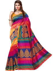 Viva N Diva Printed Bhagalpuri Multicolor Saree -19174-Aangi