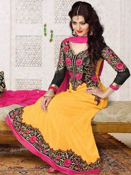 Adah Fashions Embroidered Faux Georgette Semi-Stitched Suit 527-1003