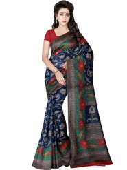 Shonaya Printed Bhagalpuri Art Silk Purple Saree -Adbhp-522-A