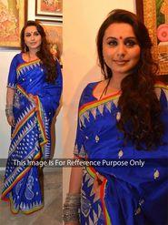 Arisha Silk Embroidered Saree - Blue