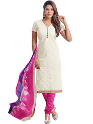 Styles Closet Printed Chanderi Unstitched Dress Material -Bnd-5346