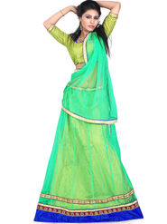 Styles Closet Designer Net & Silk Semi Stitched Lehenga Choli -Bnd-Hl5