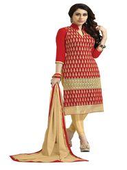 Khushali Fashion Velvet Embroidered Unstitched Dress Material -BRCVLT1003