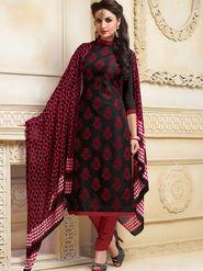 Viva N Diva Semi Stitched Banarasi Linen Embroidered Suit  Color-Blossom-03-1054