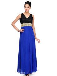 Arisha Viscose Solid Dress DRS1027_Blu